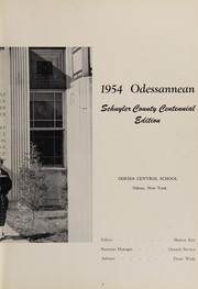 Page 11, 1954 Edition, Odessa Central High School - Odessanean Yearbook (Odessa, NY) online yearbook collection
