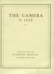 Page 3, 1928 Edition, Stamford Union Free School - Camera Yearbook (Stamford, NY) online yearbook collection