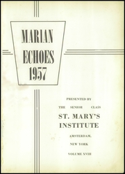 Page 5, 1957 Edition, St Marys Institute - Echoes Yearbook (Amsterdam, NY) online yearbook collection