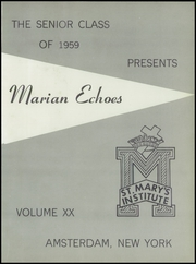 Page 5, 1959 Edition, St Marys Institute - Echoes Yearbook (Amsterdam, NY) online yearbook collection