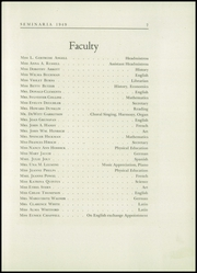 Page 11, 1949 Edition, Buffalo Seminary - Seminaria Yearbook (Buffalo, NY) online yearbook collection