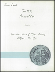 Page 7, 1954 Edition, Immaculate Heart of Mary Academy - Immaculatan Yearbook (Buffalo, NY) online yearbook collection