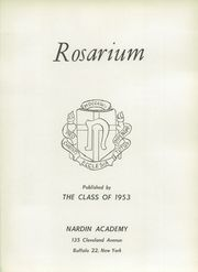 Page 5, 1953 Edition, Nardin Academy - Rosarium Yearbook (Buffalo, NY) online yearbook collection