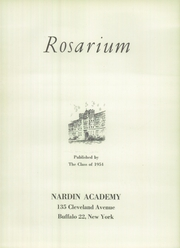 Page 5, 1954 Edition, Nardin Academy - Rosarium Yearbook (Buffalo, NY) online yearbook collection