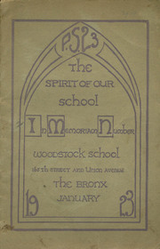 Page 1, 1923 Edition, Woodstock School - Spirit Yearbook (Bronx, NY) online yearbook collection