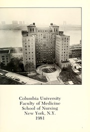 Page 5, 1981 Edition, Columbia University School of Nursing - Yearbook (New York, NY) online yearbook collection