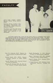 Page 10, 1958 Edition, Columbia University School of Public Health - Yearbook (New York, NY) online yearbook collection