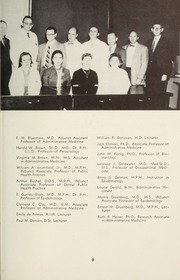 Page 11, 1958 Edition, Columbia University School of Public Health - Yearbook (New York, NY) online yearbook collection