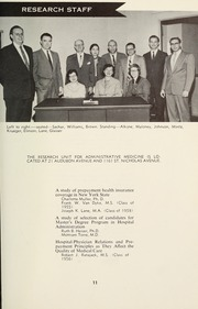 Page 13, 1958 Edition, Columbia University School of Public Health - Yearbook (New York, NY) online yearbook collection