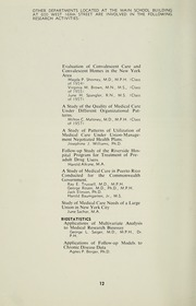Page 14, 1958 Edition, Columbia University School of Public Health - Yearbook (New York, NY) online yearbook collection