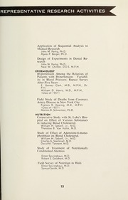 Page 15, 1958 Edition, Columbia University School of Public Health - Yearbook (New York, NY) online yearbook collection