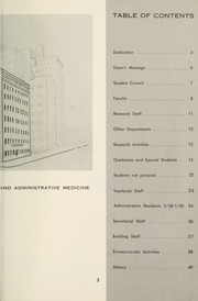Page 5, 1958 Edition, Columbia University School of Public Health - Yearbook (New York, NY) online yearbook collection