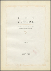 Page 7, 1931 Edition, Odessa High School - Corral Yearbook (Odessa, TX) online yearbook collection