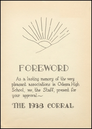 Page 7, 1938 Edition, Odessa High School - Corral Yearbook (Odessa, TX) online yearbook collection