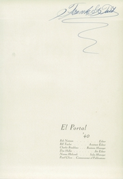 Page 5, 1940 Edition, Point Loma High School - El Portal Yearbook (San Diego, CA) online yearbook collection