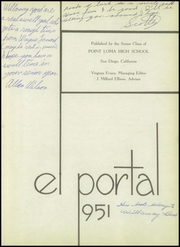 Page 7, 1951 Edition, Point Loma High School - El Portal Yearbook (San Diego, CA) online yearbook collection