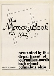 Page 7, 1947 Edition, North High School - Memory Yearbook (Columbus, OH) online yearbook collection