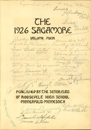 Page 7, 1926 Edition, Roosevelt High School - Sagamore Yearbook (Minneapolis, MN) online yearbook collection