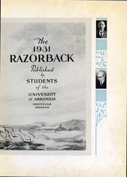 Page 6, 1931 Edition, University of Arkansas - Razorback Yearbook (Fayetteville, AR) online yearbook collection
