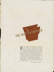 Page 5, 1948 Edition, University of Arkansas - Razorback Yearbook (Fayetteville, AR) online yearbook collection