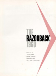 Page 3, 1960 Edition, University of Arkansas - Razorback Yearbook (Fayetteville, AR) online yearbook collection