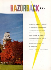 Page 5, 1960 Edition, University of Arkansas - Razorback Yearbook (Fayetteville, AR) online yearbook collection