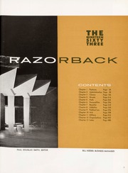 Page 3, 1963 Edition, University of Arkansas - Razorback Yearbook (Fayetteville, AR) online yearbook collection