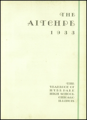 Page 7, 1933 Edition, Hyde Park High School - Aitchpe Yearbook (Chicago, IL) online yearbook collection
