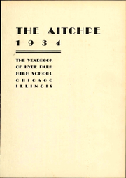 Page 9, 1934 Edition, Hyde Park High School - Aitchpe Yearbook (Chicago, IL) online yearbook collection