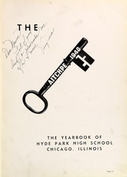 Page 9, 1940 Edition, Hyde Park High School - Aitchpe Yearbook (Chicago, IL) online yearbook collection