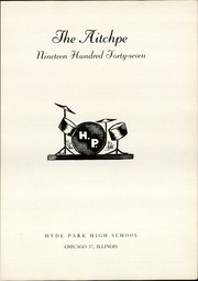 Page 7, 1947 Edition, Hyde Park High School - Aitchpe Yearbook (Chicago, IL) online yearbook collection
