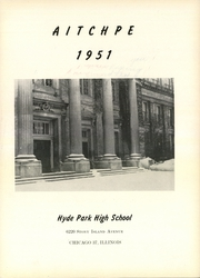 Page 9, 1951 Edition, Hyde Park High School - Aitchpe Yearbook (Chicago, IL) online yearbook collection