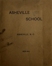 Page 1, 1910 Edition, Asheville School - Blue and White Yearbook (Asheville, NC) online yearbook collection