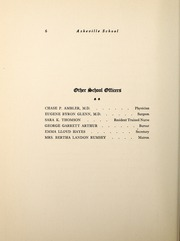 Page 8, 1918 Edition, Asheville School - Blue and White Yearbook (Asheville, NC) online yearbook collection