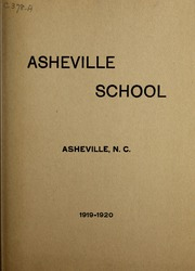 Asheville School - Blue and White Yearbook (Asheville, NC) online yearbook collection, 1920 Edition, Page 1