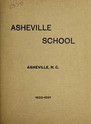Asheville School - Blue and White Yearbook (Asheville, NC) online yearbook collection, 1921 Edition, Page 1