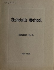 Asheville School - Blue and White Yearbook (Asheville, NC) online yearbook collection, 1926 Edition, Page 1