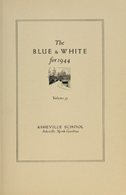 Page 9, 1941 Edition, Asheville High School - Blue and White Yearbook (Asheville, NC) online yearbook collection