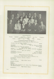 Page 11, 1922 Edition, Independence High School - Orange and Black Yearbook (Independence, KS) online yearbook collection
