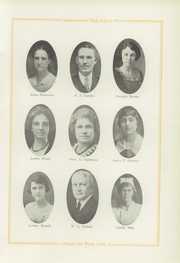 Page 17, 1922 Edition, Independence High School - Orange and Black Yearbook (Independence, KS) online yearbook collection