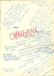 Page 7, 1937 Edition, Independence High School - Orange and Black Yearbook (Independence, KS) online yearbook collection