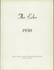 Page 5, 1950 Edition, Palo Verde Union High School - Echo Yearbook (Blythe, CA) online yearbook collection