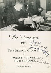 Page 7, 1938 Edition, Forest Avenue High School - Forester Yearbook (Dallas, TX) online yearbook collection