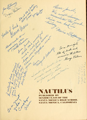 Page 7, 1934 Edition, Santa Monica High School - Nautilus Yearbook (Santa Monica, CA) online yearbook collection
