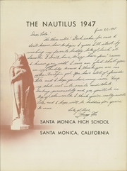 Page 7, 1947 Edition, Santa Monica High School - Nautilus Yearbook (Santa Monica, CA) online yearbook collection