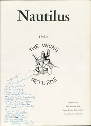 Page 7, 1953 Edition, Santa Monica High School - Nautilus Yearbook (Santa Monica, CA) online yearbook collection