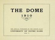 Page 5, 1910 Edition, University of Notre Dame - Dome Yearbook (Notre Dame, IN) online yearbook collection