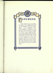 Page 9, 1916 Edition, University of Notre Dame - Dome Yearbook (Notre Dame, IN) online yearbook collection
