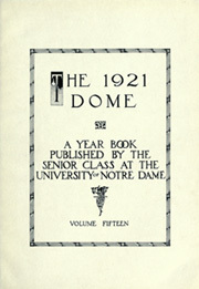 Page 7, 1921 Edition, University of Notre Dame - Dome Yearbook (Notre Dame, IN) online yearbook collection