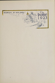 Page 7, 1923 Edition, University of Notre Dame - Dome Yearbook (Notre Dame, IN) online yearbook collection